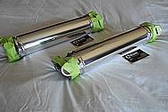 Aluminum Halfshafts AFTER Chrome-Like Metal Polishing - Aluminum Polishing