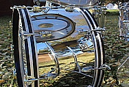 Stainless Steel Drum Shell AFTER Chrome-Like Metal Polishing and Buffing Services - Stainless Steel Polishing Service