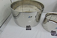 Ludwig Stainless Steel Drum Shells AFTER Chrome-Like Metal Polishing and Buffing Services - Stainless Steel Polishing Services