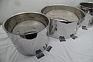 Ludwig Stainless Steel Drum Set AFTER Chrome-Like Metal Polishing and Buffing Services - Stainless Steel Drum Polishing and Welding