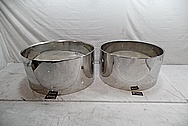 Stainless Steel Drum Shells AFTER Chrome-Like Metal Polishing and Buffing Services - Steel Polishing - Drum Polishing