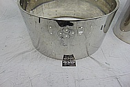 Ludwig Stainless Steel Drum Set BEFORE Chrome-Like Metal Polishing and Buffing Services - Stainless Steel Drum Polishing and Welding