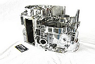 Yamaha Motorcycle Aluminum Engine Block AFTER Chrome-Like Metal Polishing and Buffing Services / Restoration Services