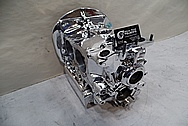 Volkswagen Aluminum Engine Block AFTER Chrome-Like Metal Polishing - Aluminum Polishing Services