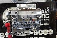 Aluminum V8 Engine Block AFTER Chrome-Like Metal Polishing - Aluminum Polishing Services