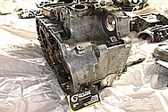 Yamaha Motorcycle Aluminum Engine Block BEFORE Chrome-Like Metal Polishing and Buffing Services / Restoration Services