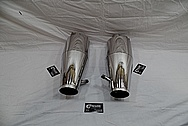 Borla Stainless Steel Exhaust Muffler / Pipes AFTER Chrome-Like Metal Polishing - Stainless Steel Polishing Services