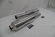 Stainless Steel Racing Mufflers AFTER Chrome-Like Metal Polishing and Buffing Services / Restoration Services - Stainless Steel Polishing Services