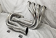 Stainless Steel Headers AFTER Chrome-Like Metal Polishing and Buffing Services / Restoration Services - Exhaust Polishing - Header Polishing