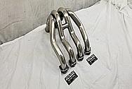 Titanium Motorcycle Exhaust Header Piping AFTER Chrome-Like Metal Polishing - Titanium Polishing