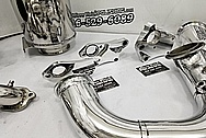 Stainless Steel Exhaust System Pipes AFTER Chrome-Like Metal Polishing - Stainless Steel Polishing