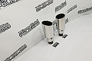 Steel Exhaust Tips AFTER Chrome-Like Metal Polishing and Buffing Services - Steel Polishing