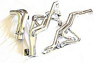 Stainless Steel Exhaust Headers System AFTER Chrome-Like Metal Polishing and Buffing Services