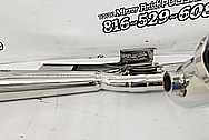 Stainless Steel Motorcycle Exhaust Pipes AFTER Chrome-Like Metal Polishing and Buffing Services - Stainless Steel Polishing