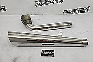 Stainless Steel Motorcycle Exhaust System AFTER Chrome-Like Metal Polishing and Buffing Services - Stainless Steel Polishing