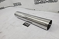 Steel Airplane Exhaust System AFTER Chrome-Like Metal Polishing and Buffing Services - Steel Polishing