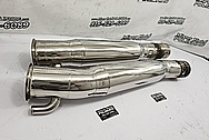 Stainless Steel Boat Exhaust Headers / Exhaust Pipe Project AFTER Chrome-Like Metal Polishing and Buffing Services - Stainless Steel Polishing - Boat Polishing