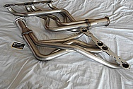 Stainless Steel Exhaust Headers and Flange BEFORE Chrome-Like Metal Polishing and Buffing Services / Restoration Services