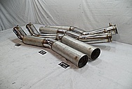 Stainless Steel Boat Exhaust Pipes BEFORE Chrome-Like Metal Polishing and Buffing Services / Restoration Services