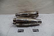 Borla Stainless Steel Exhaust Muffler / Pipes BEFORE Chrome-Like Metal Polishing - Stainless Steel Polishing Services