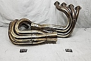 Stainless Steel Headers BEFORE Chrome-Like Metal Polishing and Buffing Services / Restoration Services - Exhaust Polishing - Header Polishing