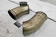 Stainless Steel Exhaust System Pipes BEFORE Chrome-Like Metal Polishing - Stainless Steel Polishing
