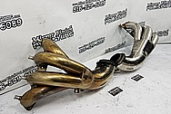 Stainless Steel Boat Exhaust Headers / Exhaust Pipe Project BEFORE Chrome-Like Metal Polishing and Buffing Services - Stainless Steel Polishing - Boat Polishing