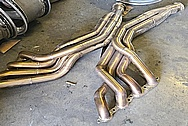 Stainless Steel Exhaust System Project BEFORE Chrome-Like Metal Polishing and Buffing Services - Stainless Steel Polishing - Exhaust / Muffler Polishing