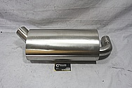 Buell XB Stainless Steel Motorcycle Muffler BEFORE Chrome-Like Metal Polishing and Buffing Services / Restoration Services