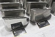 Stainless Steel Exhaust Tips BEFORE Chrome-Like Metal Polishing and Buffing Services / Restoration Services