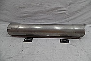 "5"" Stainless Steel Exhaust for Truck BEFORE Chrome-Like Metal Polishing and Buffing Services / Restoration Services"