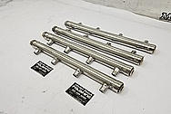 Boat Engine Aluminum Fuel Rails AFTER Chrome-Like Metal Polishing and Buffing Services - Aluminum Polishing - Boat Polishing