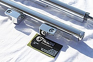 Dodge Hemi 6.1L V8 Aluminum Fuel Rails AFTER Chrome-Like Metal Polishing and Buffing Services
