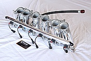 Toyota Supra 2JZ - GTE Aluminum Fuel Rail AFTER Chrome-Like Metal Polishing and Buffing Services