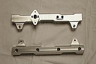 Ford Shelby Aluminum Fuel Rails BEFORE Chrome-Like Metal Polishing and Buffing Services