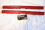 Ford Mustang V8 FAST Aluminum Fuel Rails BEFORE Chrome-Like Metal Polishing and Buffing Services
