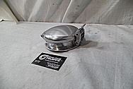 1998 Dodge Viper GTS Aluminum Gas Cap Assembly BEFORE Chrome-Like Metal Polishing and Buffing Services - Aluminum Polishing Service