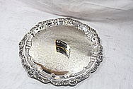 Large Designer Serving Plate AFTER Chrome-Like Metal Polishing and Buffing Services / Restoration Services