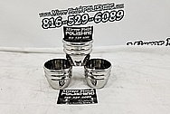Stainless Steel Cups / Glasses AFTER Chrome-Like Metal Polishing and Buffing Services - Steel Polishing - Glass Polishing