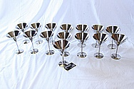 Titanium Metal Martini Glasses AFTER Chrome-Like Metal Polishing and Buffing Services / Restoration Services