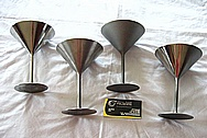 Titanium Metal Martini Glasses BEFORE Chrome-Like Metal Polishing and Buffing Services
