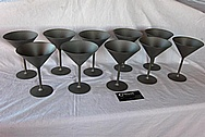 Titanium Metal Martini Glasses BEFORE Chrome-Like Metal Polishing and Buffing Services / Restoration Services