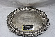 Large Designer Serving Plate BEFORE Chrome-Like Metal Polishing and Buffing Services / Restoration Services