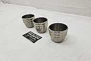 Stainless Steel Cups / Glasses BEFORE Chrome-Like Metal Polishing and Buffing Services - Steel Polishing - Glass Polishing