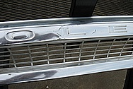 1966 Chevy Truck Aluminum Grille BEFORE Chrome-Like Metal Polishing and Buffing Services Plus Dent Removal Services and Painting Services