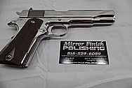Colt Government Model .45 Caliber Gun / Pistol AFTER Chrome-Like Metal Polishing - Stainless Steel Polishing