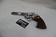 1965 Colt Python .357 Magnum Stainless Steel Revolver / Gun AFTER Chrome-Like Metal Polishing and Buffing Services - Stainless Steel Polishing Services