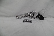 Steel Colt Python Revolver AFTER Chrome-Like Metal Polishing and Buffing Services / Restoration Services - Steel Gun Polishing Services