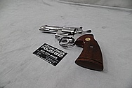 Stainless Steel Colt Python Revolver AFTER Chrome-Like Metal Polishing and Buffing Services / Restoration Services - Steel Gun Polishing Services
