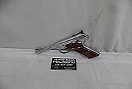 Colt Woodsman .22 Caliber Stainless Steel Slide Action Gun AFTER Chrome-Like Metal Polishing and Buffing Services - Stainless Steel Polishing Services